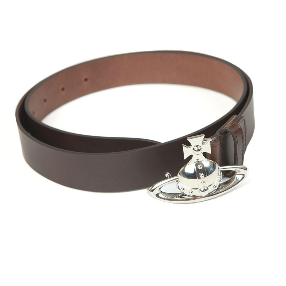 Orb Buckle Leather Belt main image