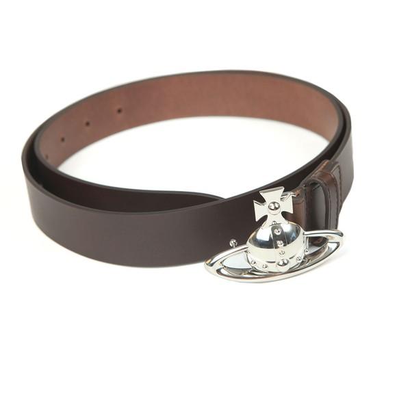 Vivienne Westwood Mens Brown Orb Buckle Leather Belt