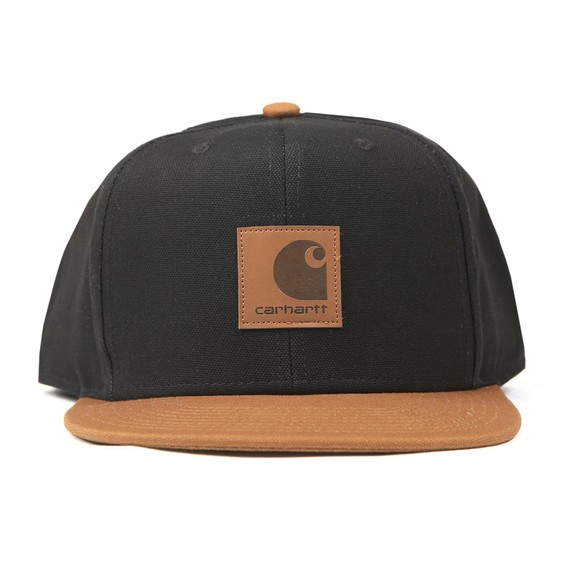 Carhartt WIP Mens Black Logo Cap Bi-Coloured Cap