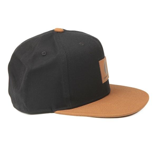 Carhartt WIP Mens Brown Logo Cap Bi-Coloured Cap