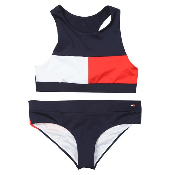 Tommy Hilfiger Kids Girls Blue 2 Piece Bikini Set