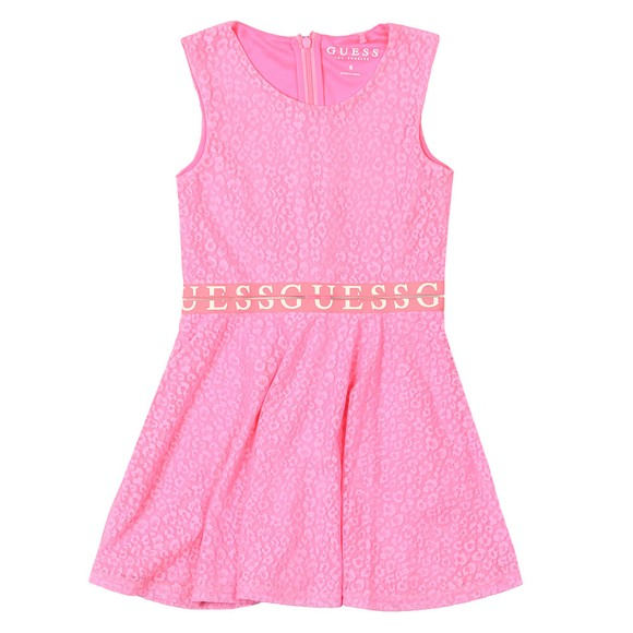 Guess Girls Pink Logo Woven Dress