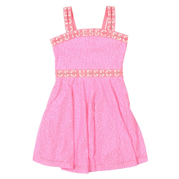 Guess Girls Pink Strap Shoulder Dress
