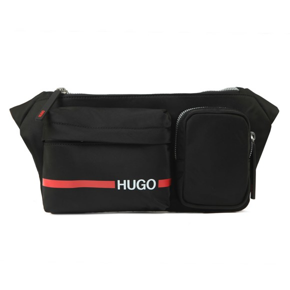 HUGO Mens Black Record Bumbag