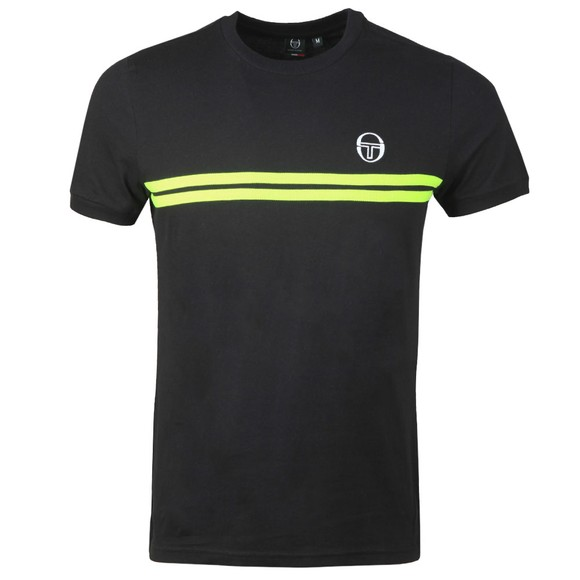 Sergio Tacchini Mens Black S/S Supermac T-Shirt
