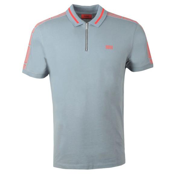 HUGO Mens Grey Dolmar203 Polo Shirt