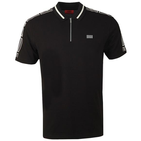 HUGO Mens Black Dolmar203 Polo Shirt