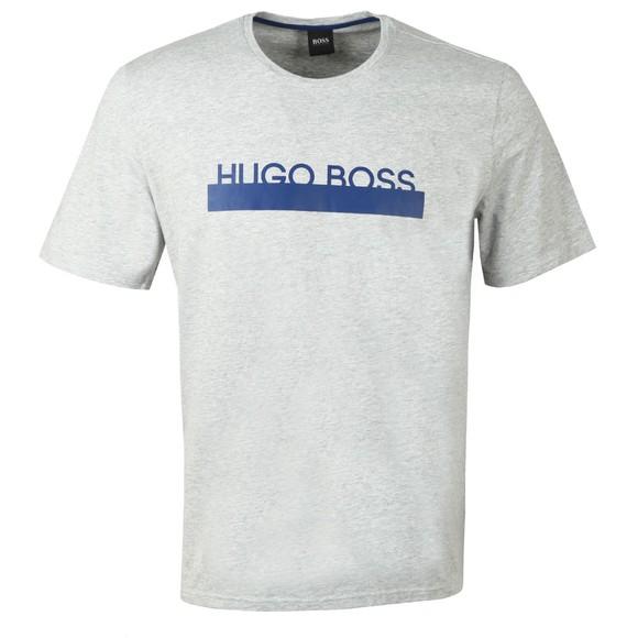 BOSS Bodywear Mens Grey Identity Centre Logo T-Shirt