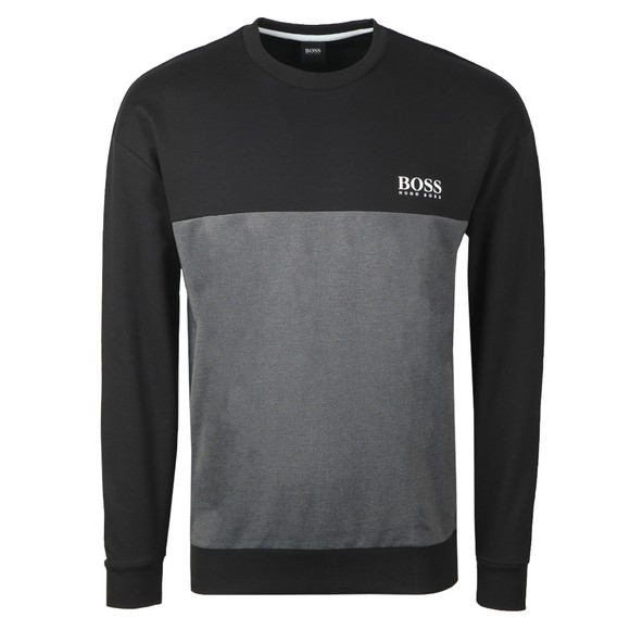 BOSS Bodywear Mens Black Small Logo Crew Sweatshirt main image