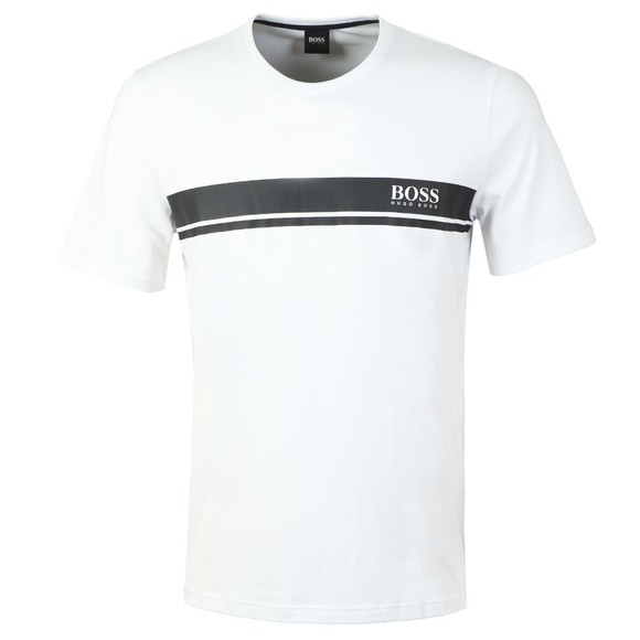 BOSS Bodywear Mens White Relax Stripe T-Shirt main image