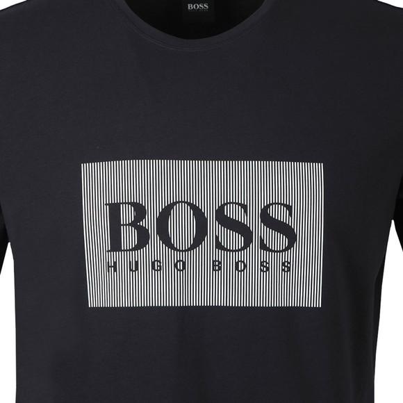 BOSS Bodywear Mens Blue Fashion Box Logo T-Shirt