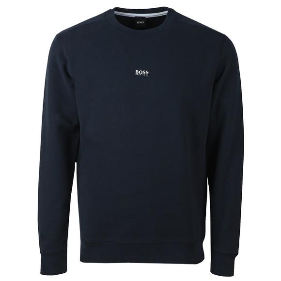 BOSS Mens Blue Casual Weevo Sweatshirt