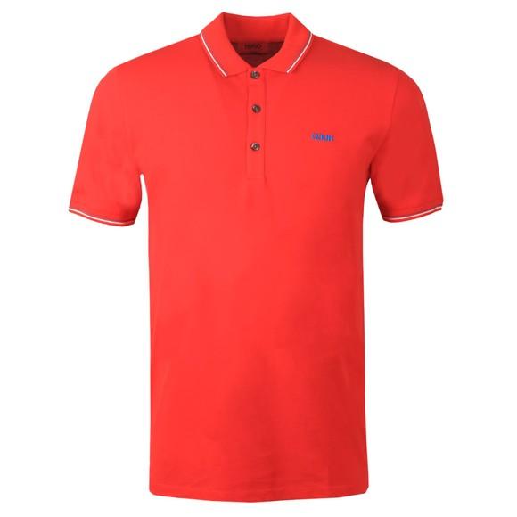 HUGO Mens Red Dinoso203 Polo Shirt