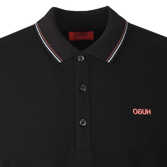 HUGO Mens Black Dinoso203 Polo Shirt