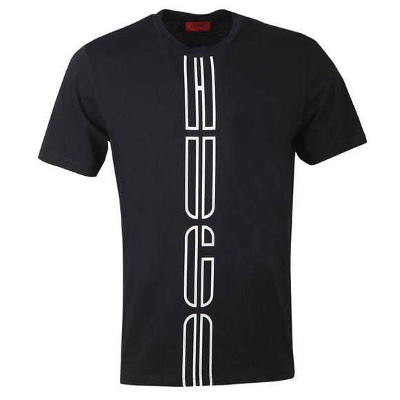 HUGO Mens Black Darlon203 T-Shirt