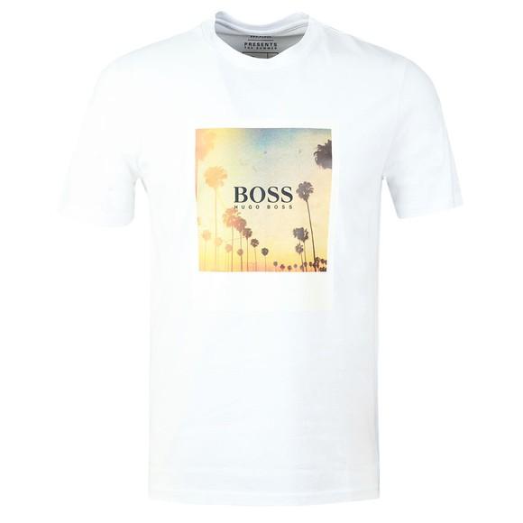 BOSS Mens White Casual TSummer T Shirt
