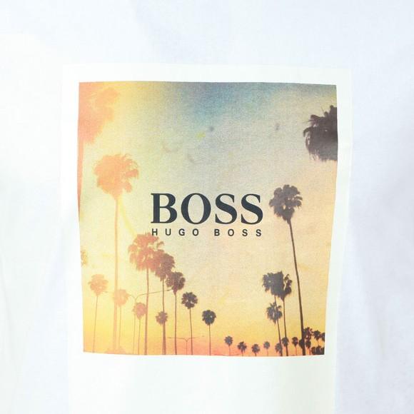 BOSS Mens White Casual TSummer T-Shirt