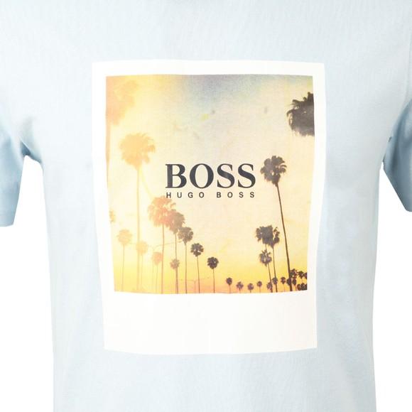 BOSS Mens Blue Casual TSummer T-Shirt