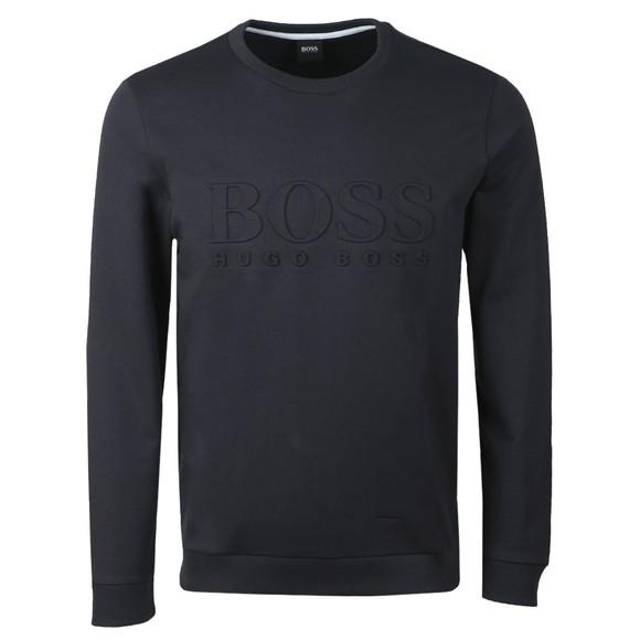 BOSS Bodywear Mens Blue Heritage Sweatshirt
