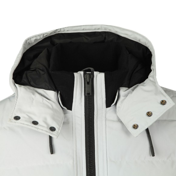 Moose Knuckles Mens Grey Rocher Bomber Jacket