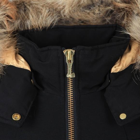 Moose Knuckles Womens Black Sainte Flavie Bomber Jacket