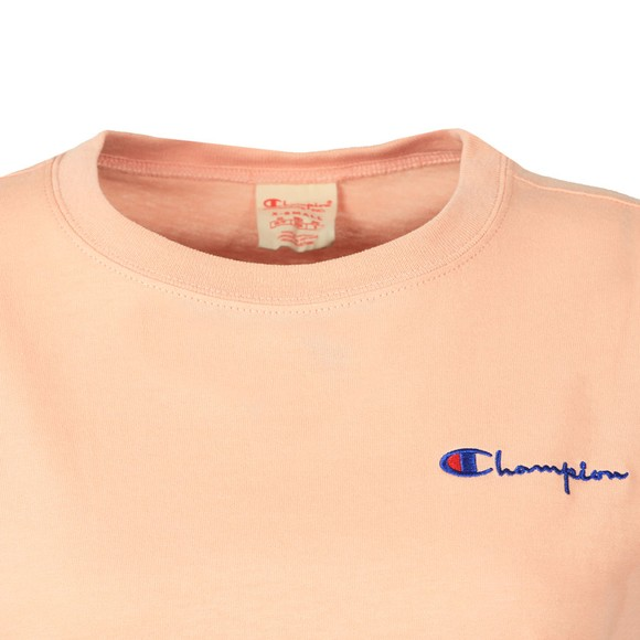 Champion Reverse Weave Womens Pink Crew Neck T-Shirt