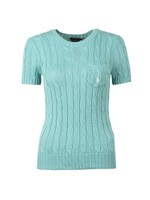 Cable Knit Short Sleeve T Shirt