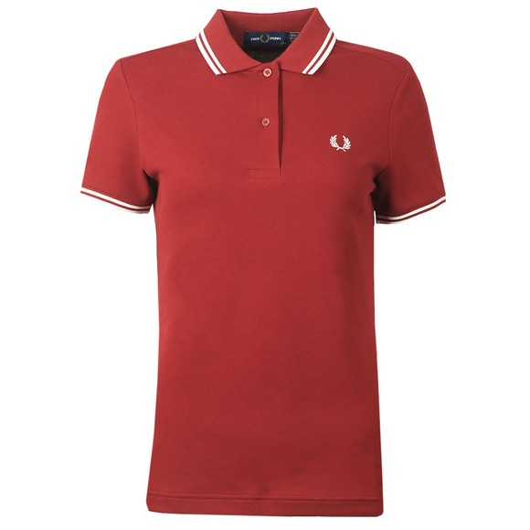Fred Perry Womens Red Twin Tipped Polo Shirt