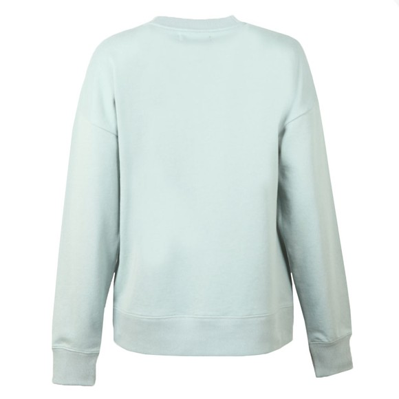 Fred Perry Womens Blue Embroidered Centre Logo Sweatshirt  main image