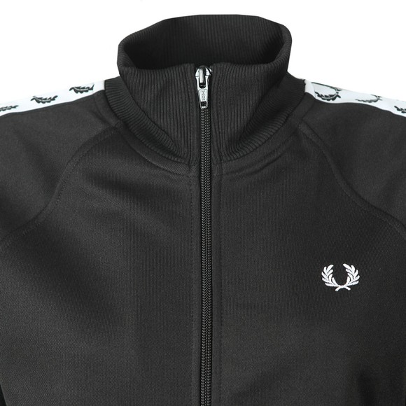 Fred Perry Womens Black Taped Track Jacket