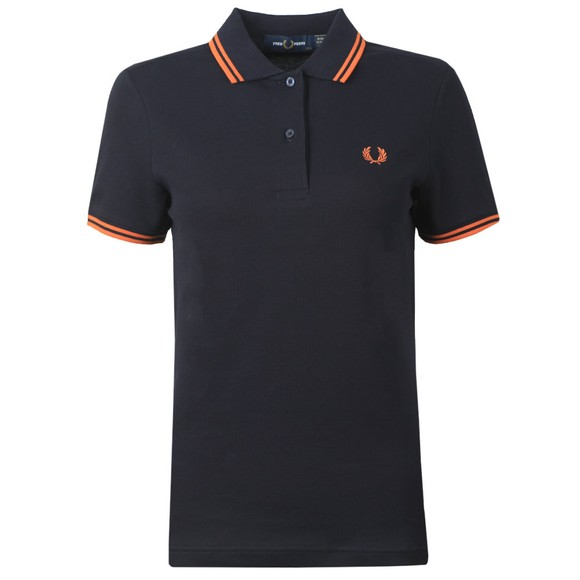 Fred Perry Womens Blue Twin Tipped Polo Shirt