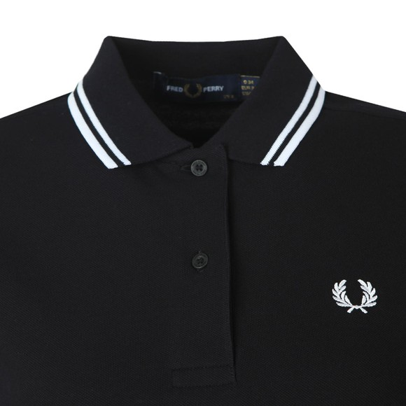 Fred Perry Womens Black Twin Tipped Polo Shirt