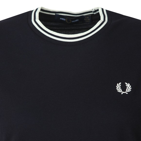 Fred Perry Womens Blue Twin Tipped Pique T-Shirt