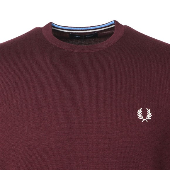 Fred Perry Mens Purple Classic Crew Neck Jumper main image