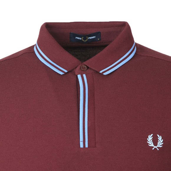 Fred Perry Mens Purple Tipped Placket Polo Shirt