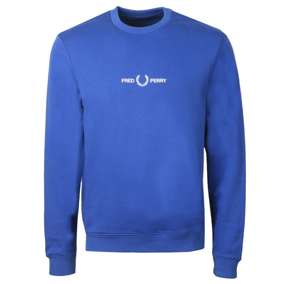 Fred Perry Mens Blue Graphic Sweatshirt