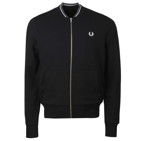 Fred Perry Mens Black Zip Through Sweatshirt