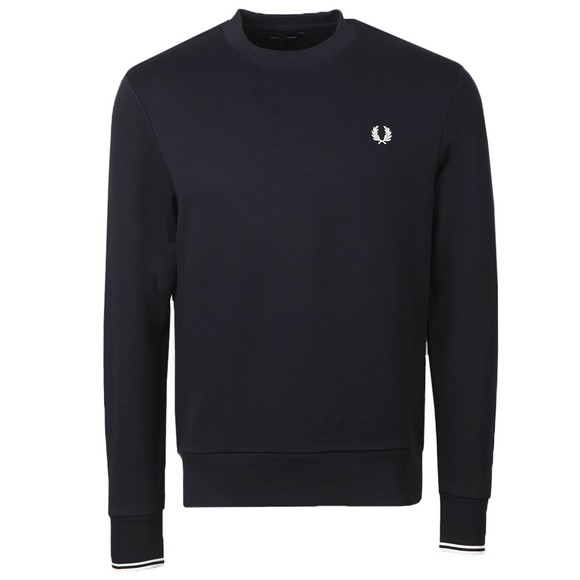 Fred Perry Mens Blue Crew Neck Sweatshirt