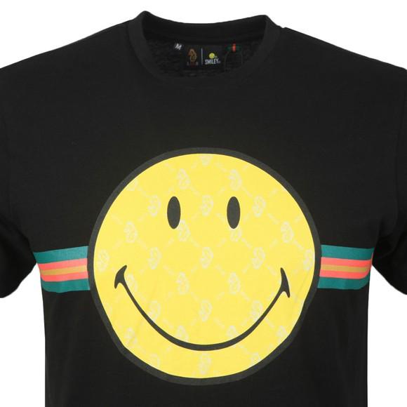 Luke 1977 Mens Black Happy Days Luke x Smiley T-Shirt main image