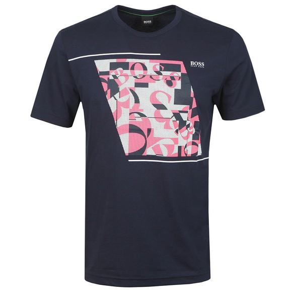BOSS Mens Blue Athleisure Tee 3 T-Shirt