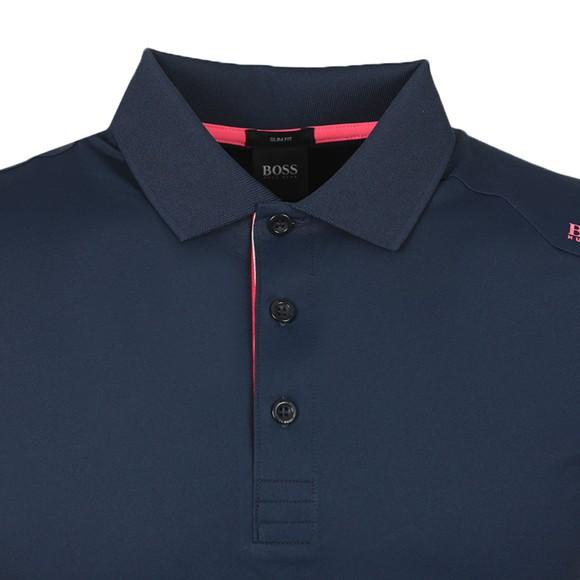 BOSS Mens Blue Athleisure Paule 6 Polo Shirt