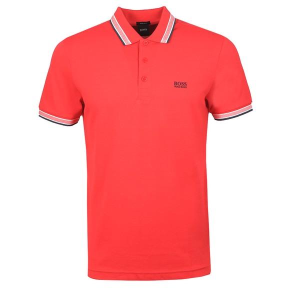 BOSS Mens Pink Athleisure Paddy Polo Shirt