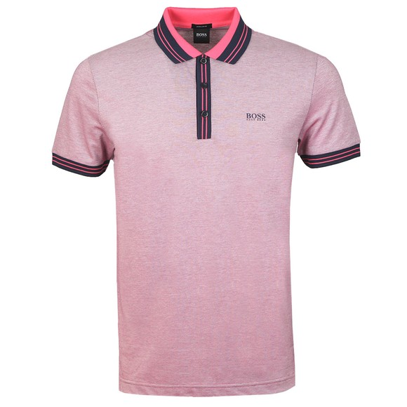 BOSS Mens Pink Athleisure Paddy 2 Polo Shirt