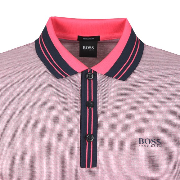 BOSS Mens Pink Athleisure Paddy 2 Polo Shirt