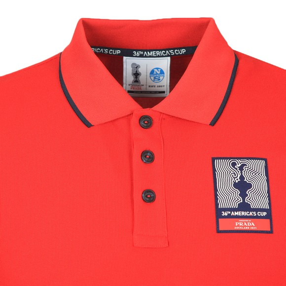 North Sails 36th Americas Cup presented by PRADA Mens Red Auckland Polo Shirt
