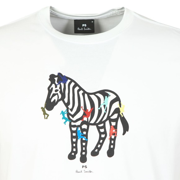 PS Paul Smith Mens White Zebra Climb T-Shirt