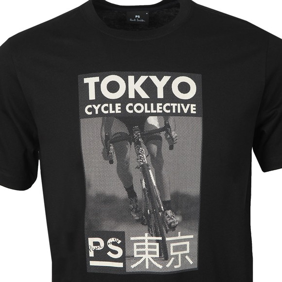 PS Paul Smith Mens Black Tokyo Cycle Collective T-Shirt