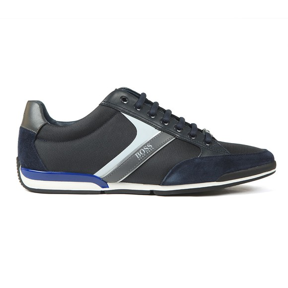 BOSS Mens Blue Saturn Lowp Mix Trainer