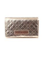Cross Quilted Metallic Bag