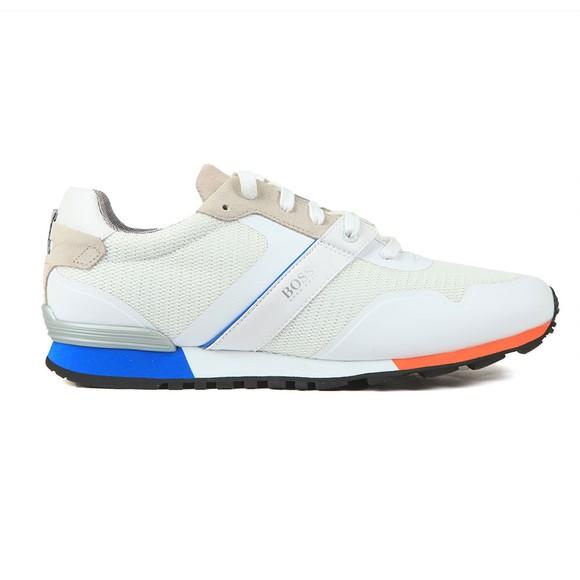 BOSS Mens White Parkour Runner 3 Colour Trainer
